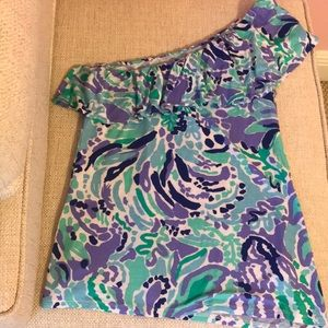 Lily Pulitzer One Shoulder Top Size XS
